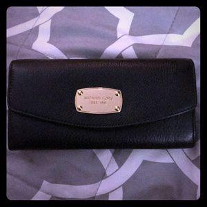 Michael Kors Jet Set Slim Flap Leather Wallet